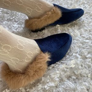 Shoes - Navy blue suede loafers